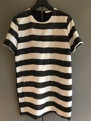 Vicolo Robe à paillettes blanc-noir polyester