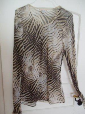 "Mega!""RobertoCavalli""-leicht transp.Shirt-Bluse - Zebra- Gr.40/42 strech"