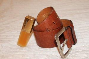 Marc O'Polo Cintura di pelle cognac Pelle