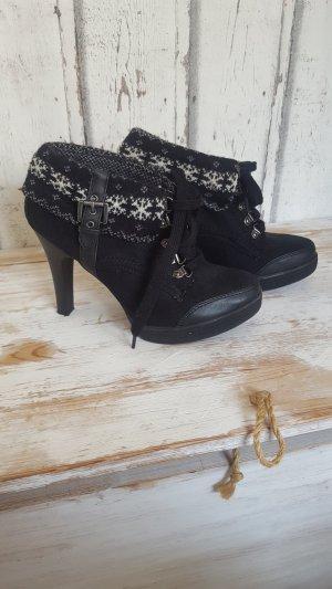 Graceland Low boot blanc-noir