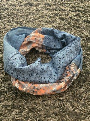 TCM Tube Scarf cornflower blue-orange