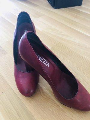 Venezia Chaussure à talons carrés bordeau