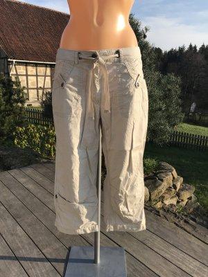 Blue Motion Pantalon cargo beige clair-argenté coton