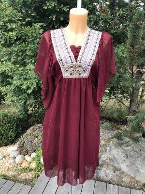 Robe tunique multicolore polyester