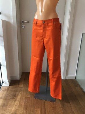 Pantalon taille haute multicolore coton