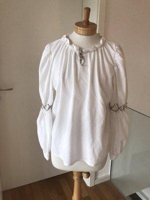 MEGA-SOMMER-SALE!!! * NUR NOCH HEUTE!!! * Schöne weiße Trachtenbluse * Country-Style * 38/40