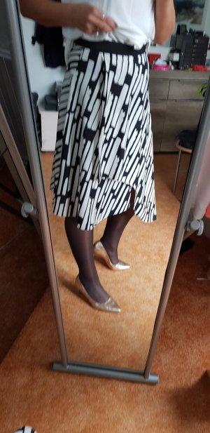 Topshop Jupe asymétrique noir-blanc