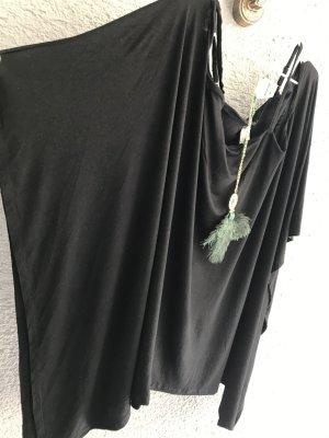 Empire Waist Shirt black viscose