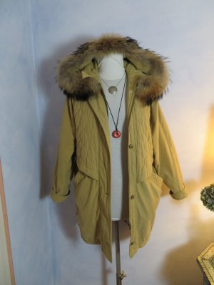 Vintage Hooded Coat multicolored polyester