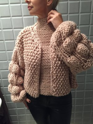 N n.d.c. made by hand Sweater Twin Set dusky pink new wool