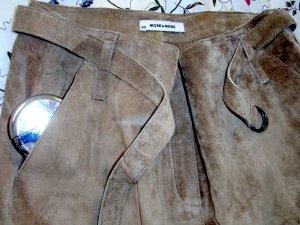 More & More Jupe en cuir synthétique beige clair-chameau faux cuir