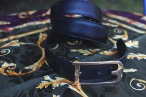 Burberry Lederen riem zwart-goud Leer