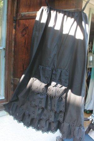 Folkloristische schort zwart Katoen
