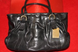 Furla Carry Bag black-gold-colored leather