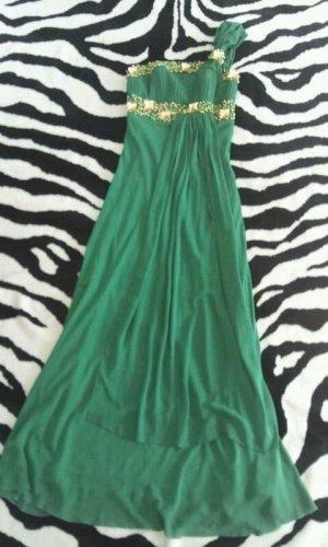 One Shoulder Dress green