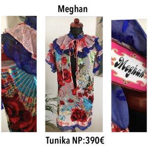 Meghan Tunika 100% Seide Minikleid Strandkleid Tunic