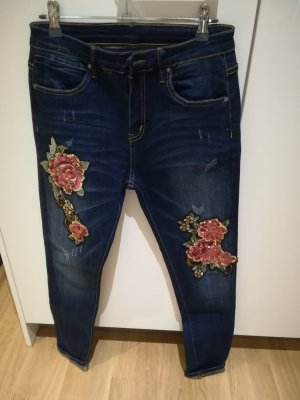 Megusto denim Slim Jeans dark blue
