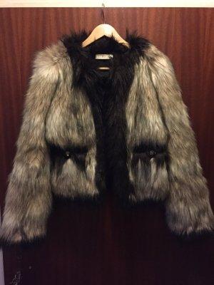 Mehrfarbige Fake Fur Jacket