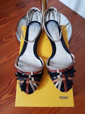 Fendi Sandalias multicolor Cuero