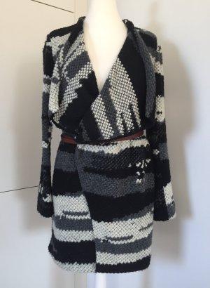 Ba&sh Abrigo de lana multicolor tejido mezclado