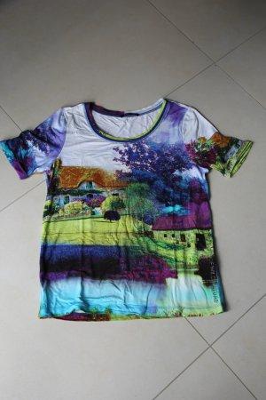 mehrfarbiges hochwertiges Print-Shirt von Margittes