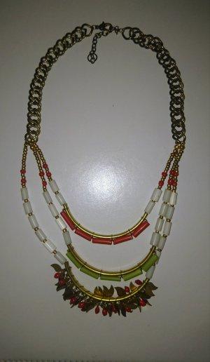 Mehrreige Sommerliche Halskette