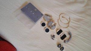 Mehrteiliges Set mit Ohrringen in Silber und Gold Zara IAM oder six