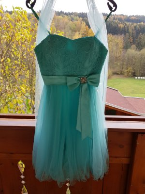 Evening Dress silver-colored-turquoise