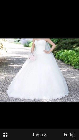 Mein Traumkleid/Brautkleid/Hochzeitskleid in hellem ivory weiß