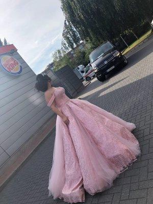 cinderella Wedding Dress rose-gold-coloured-salmon