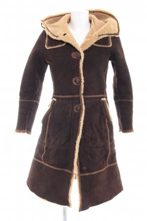 Meindl Couture Leather Jacket dark brown-light brown country style