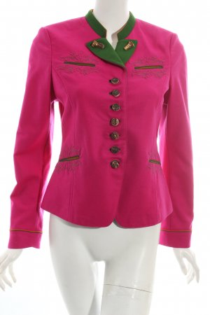 Meindl Couture Trachtenjacke pink-grün Country-Look