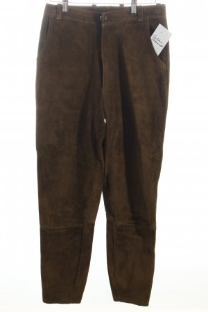 Meindl Traditional Leather Trousers olive green country style