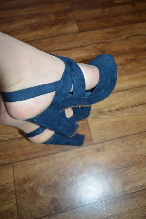 Bershka Platform Pumps blue