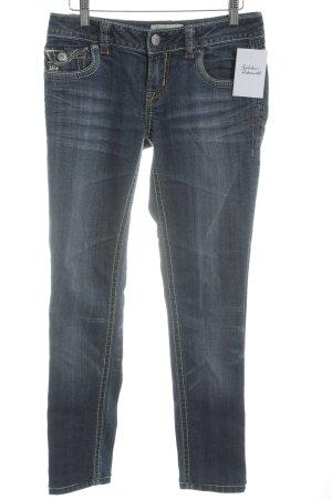 MEK USA DNM Jeans 7/8 bleu-gris ardoise style décontracté
