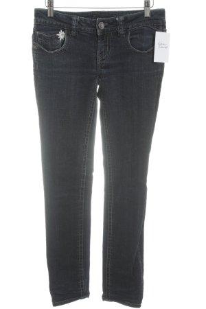 MEK USA DNM Jeans 7/8 bleu foncé-gris ardoise style décontracté