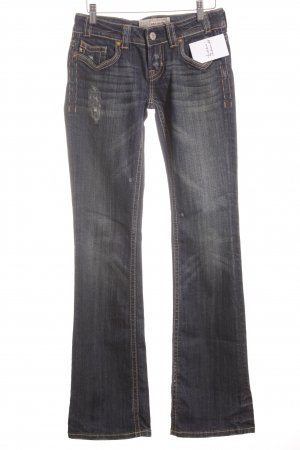 MEK USA DNM Boot Cut Jeans weiß-dunkelblau Casual-Look