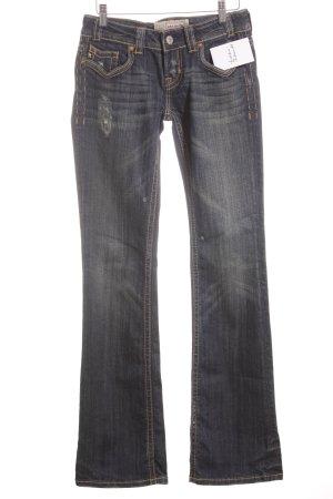 MEK USA DNM Boot Cut Jeans weiß-dunkelblau Casual-Look