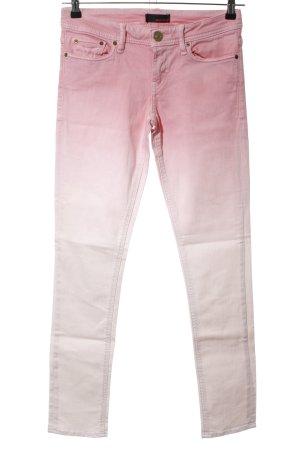 MEK USA DNM Pantalon cigarette rose-blanc cassé gradient de couleur