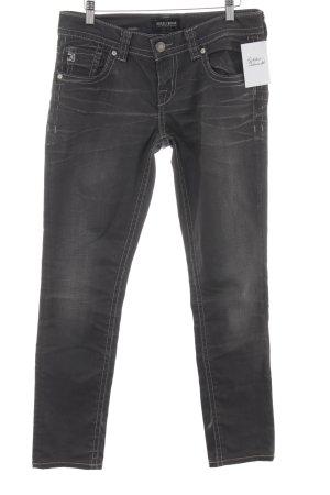 MEK USA DNM Slim Jeans anthrazit Matt-Optik