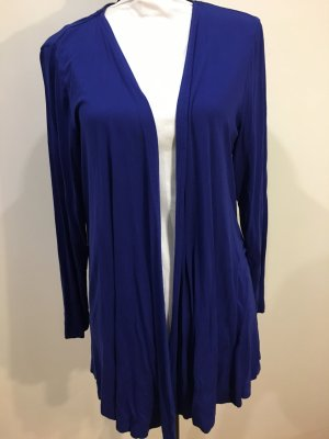 Long Knitted Vest blue viscose
