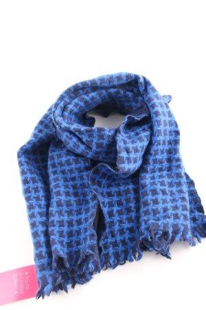 mel & davis Cashmere Scarf blue-dark blue houndstooth pattern casual look