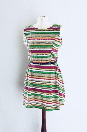 Mela loves London Kleid Skaterkleid streifen gestreift bunt Trend Statement Blogger