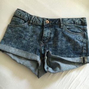 Melierte Denim-Shorts