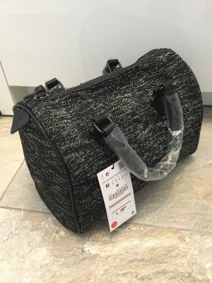 Zara Sac noir-gris clair tissu mixte