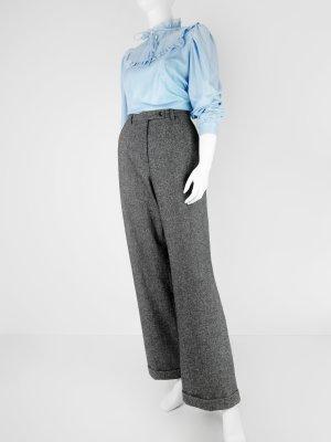 Melierte Vintage Hose mit weitem Bein