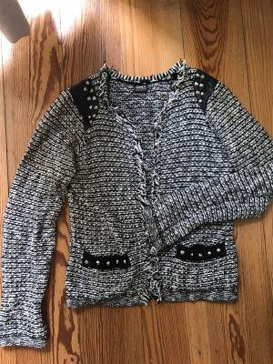 Only Knitted Blazer black-white