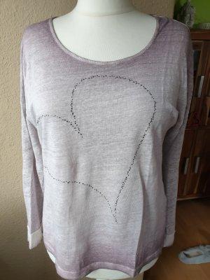 meliertes Leinen Shirt / Pullover Gr. L von rich & royal