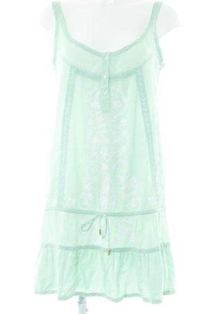 Melissa Odabash Vestido tipo túnica verde pálido-blanco estampado floral