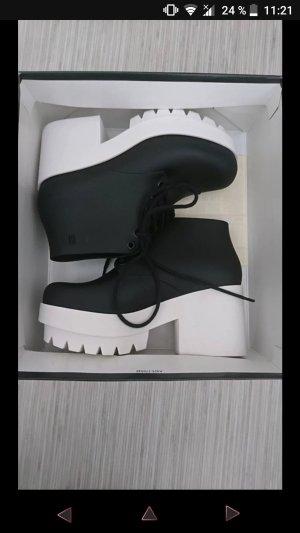 Melissa Stellar schwarz und weiß Plattform Schuhe Größe 37